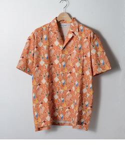 【LAB】 GEOMETRY OPEN COLLAR / 幾何学オープンカラー シャツ
