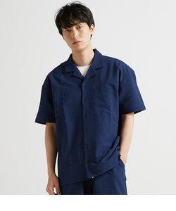 【LAB】 SEERSUCKER OPEN COLLAR / シアサッカーオープンカラー シャツ