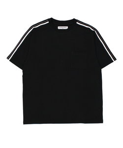 【LAB】 RIB LINE SHORT-SLEEVE T / 袖リブライン半袖T