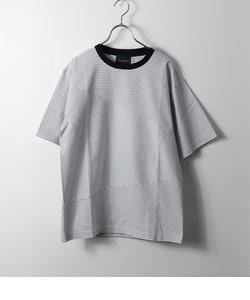 【HAMNETT】 PANEL BORDER JERSEY / パネルボーダージャージ