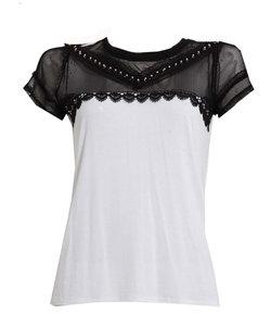 レーシーバイカラーTシャツ