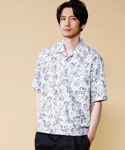 オリジナルフラワートロオープンカラーシャツ
