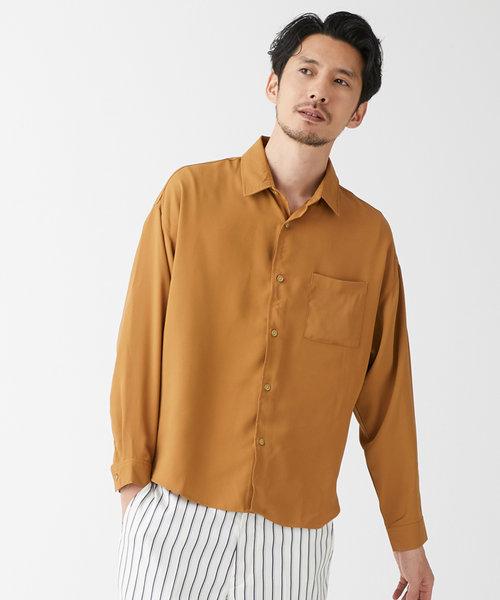 レギュラーカラーワイドシャツ