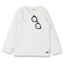 メガネワッペン付き長袖Tシャツ