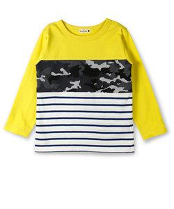 ボーダー切替え長袖Tシャツ