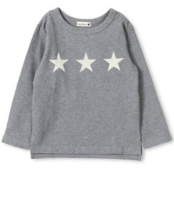 星プリント長袖Tシャツ