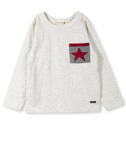 【タフT】星ポケット長袖Tシャツ