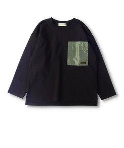 異素材ポケット長袖Tシャツ