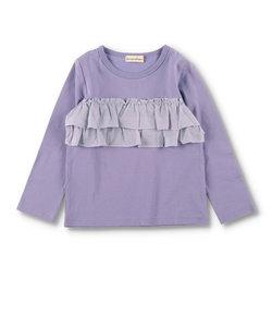 2段フリル長袖Tシャツ