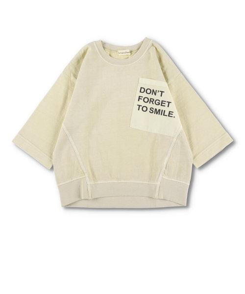 ロゴポケット8分袖Tシャツ