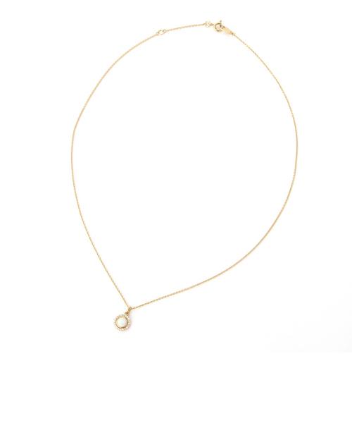 エ・クラミル オパール ネックレス K18シャンパンゴールドカラー