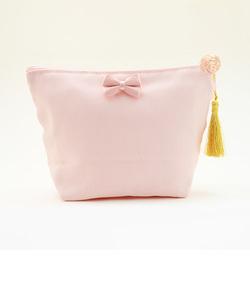 イニシャルポーチ  ピンク