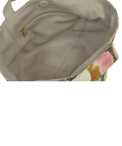 リバーシブルバッグ S 花柄ピンク×ライトグレー