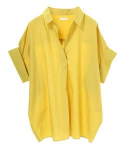 ・半袖スキッパーシャツ