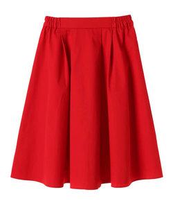 ・無地 サイドギャザースカート