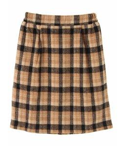 ・タック入りチェック柄スカート