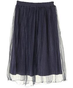 ・ラメプリーツミディスカート
