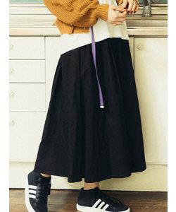 ギャザーボリュームロングスカート