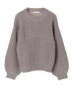 ワッフル編みプルオーバー