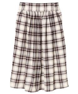 ・ネルチェックギャザースカート