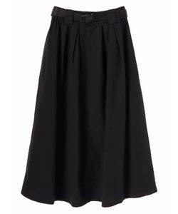 ・ベルト付カラーフレアスカート