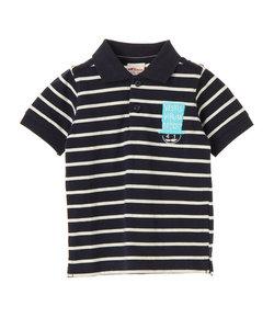 【KIDS】・ボーダーポロシャツ