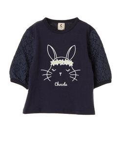 【KIDS】・うさぎチュニックTシャツ