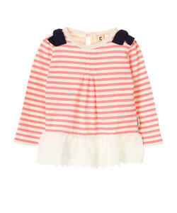 【KIDS】・レース付きチュニックTシャツ