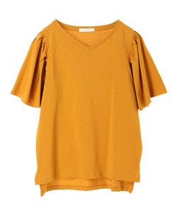 ・フレアスリーブTシャツ