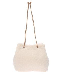 ・エコファーリバーシブル巾着バッグ