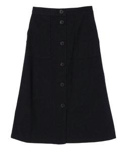 フロント釦台形スカート