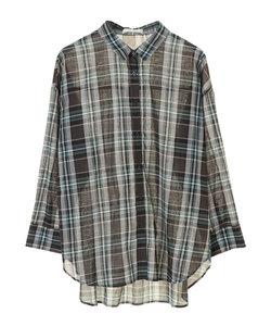シアーチェックシャツ