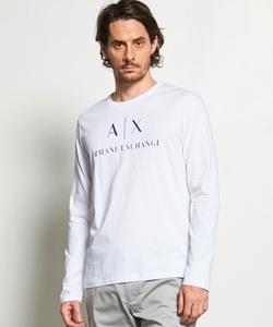 【AXアルマーニ エクスチェンジ】AXロゴ ロングTシャツ