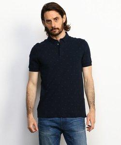 【AXアルマーニ エクスチェンジ】モノグラムAXロゴ ポロシャツ