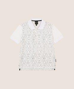 【AXアルマーニ エクスチェンジ】ボーイズ グラフィックプリントポロシャツ