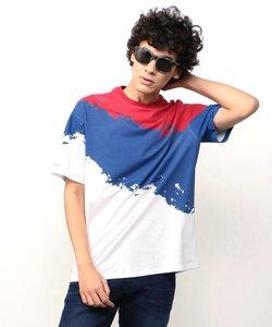 【AXアルマーニ エクスチェンジ】3カラーペイントTシャツ