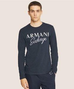 【A Xアルマーニ エクスチェンジ】ブロック&カーシブロゴ ロングスリーブTシャツ