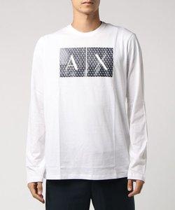 【A|Xアルマーニ エクスチェンジ】ダイヤカットAXロゴ ロングTシャツ