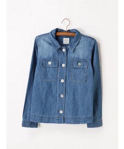 綿麻デニムシャツジャケット