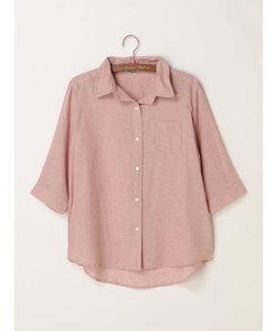綿麻ワイヤーシャツ