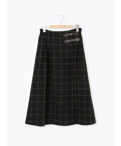 ●チェックベルト付スカート