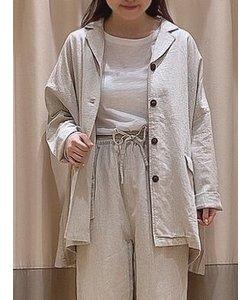 リネンコットンオーバーサイズジャケット