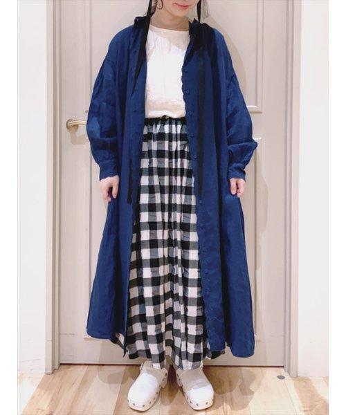 35th【Slowlinen】スカーフ刺繍ワンピース