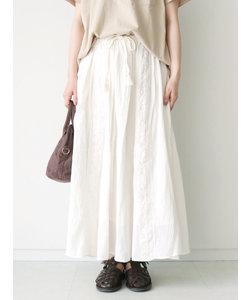 綿麻楊柳レーススカート