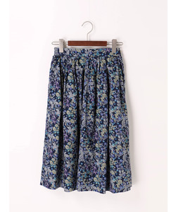 リバティ草花柄スカート