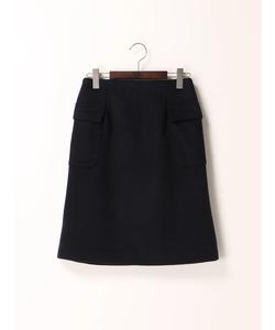 ウールアウトポケット台形スカート