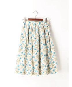 LIBERTY ポピープリントタックギャザースカート