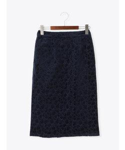 刺繍べロアタイトスカート