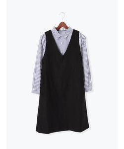 シャツ×ジャンパースカートセット