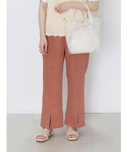 裾フレアスリットパンツ